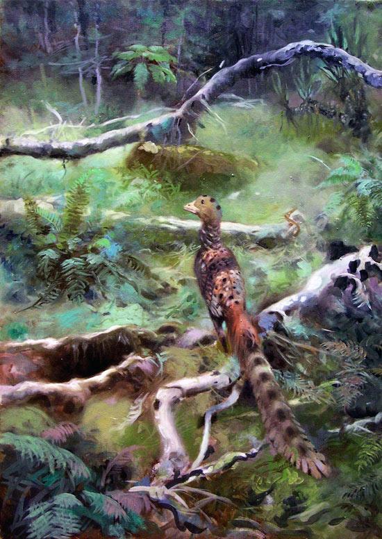 Artist's impression of the oldest known bird