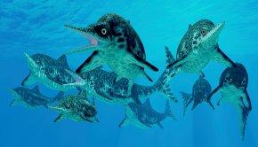 İhtiyozorlar 250 milyon yıl önce okyanuslarda yaşamış etçil deniz sürüngenleriydiç